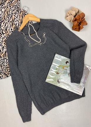 Базовый лаконичный серый свитер