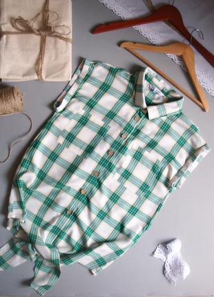 Блуза рубашка в экостиле без рукавов