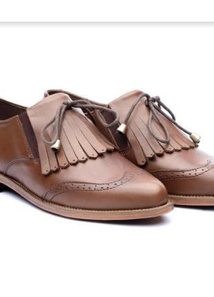 Скидка при доставке meest кожаные туфли лоферы с кисточками autograph