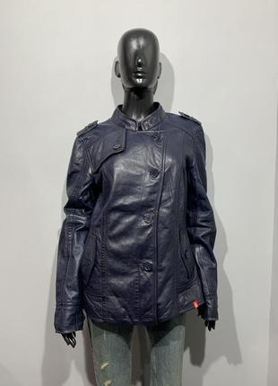 Кожаная куртка esprit размер xxl