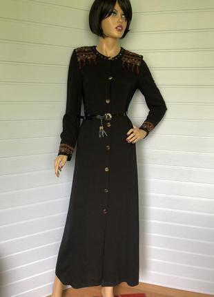 Шикарнейшее, шедевральное платье-рубашка с вышивкой итальянского бренда. серия элит-люкс италия