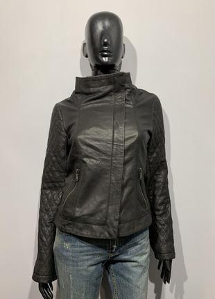 Кожаная куртка esprit размер s