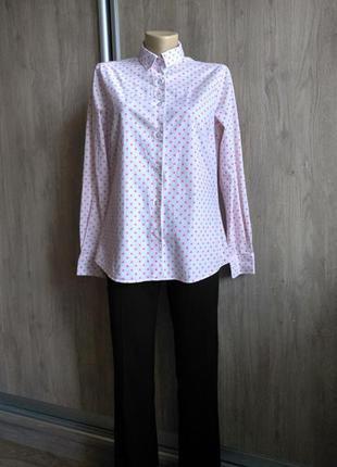 Milano белая рубашка в горох