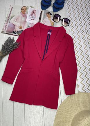 Новый малиновый жакет приталенный женский пиджак осень xs xxs
