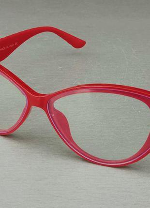 Chanel очки женские имиджевые оправа для очков красные с золотым логотипом
