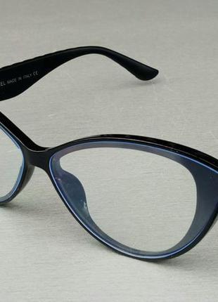 Chanel очки имиджевые женские оправа для очков черная с золотым логотипом