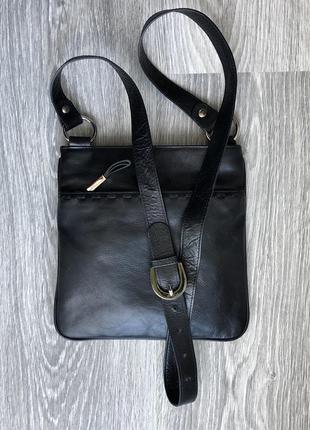 Кожаная сумка, кроссбоди, через плечо, планшетка, мессенджер, debenhams. англия.
