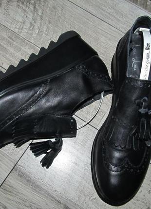 Lou - lou кожаные туфли тракторы р.40-26,5см италия
