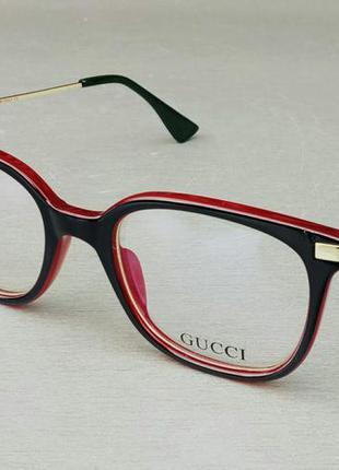 Gucci очки женские имиджевые оправа для очков красные с черным
