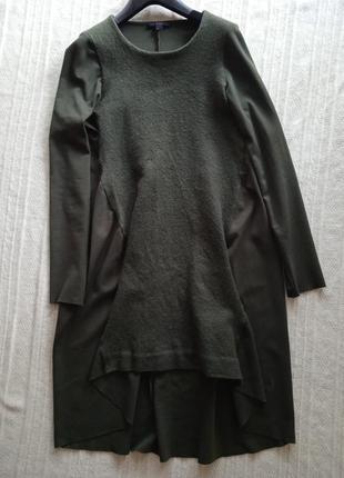 Хлопковое шерстяное платье cos m