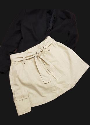 Крутые юбка шортами из смесового льна