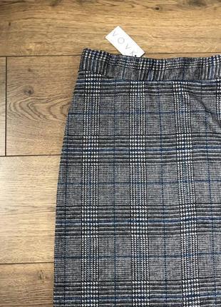 Прямая трикотажная теплая юбка vovk с биркой. размер xxs-xs