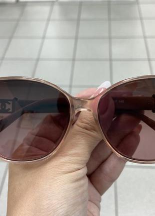 Женские солнцезащитные очки на узкое лицо пудровые линзы с градиентом