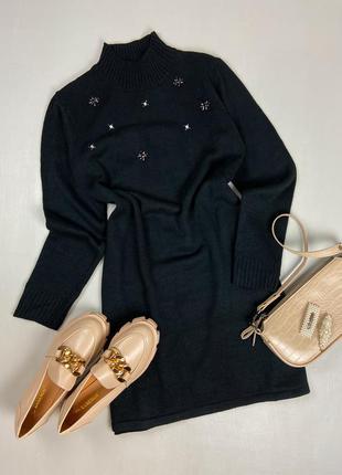 Чёрное платье - свитер signature collection