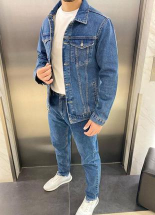 Комплект джинсовий джинси піджак