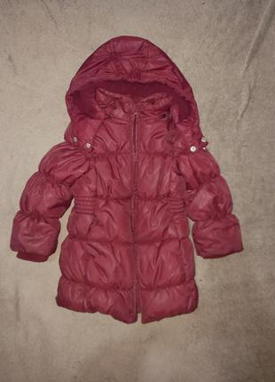 Курточка куртка зимняя на девочку 1,5 года chicco