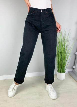 Джинсы чёрные винтажные levis 501