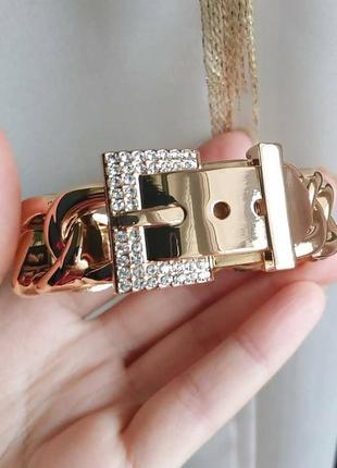 Браслет на руку золото широкий цепь