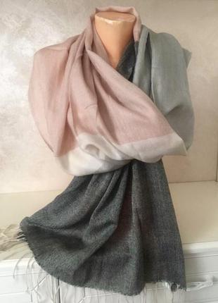 ❤️брендовый большой шарф в пастельных тонах