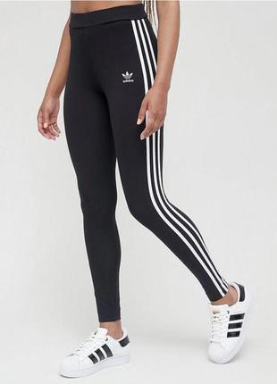 Идеальные черные лосинки на высокой посадке от adidas, оригинал 🖤