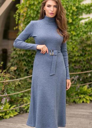 Тёплое ангоровое платье цвет синий 💙 качество 🔥