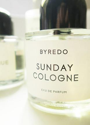 Byredo sunday cologne оригинал затест распив и отливанты аромата
