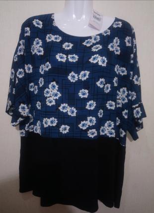 🌺 🌿 🍃 блуза /туника р.54 🌺 🌿 🍃