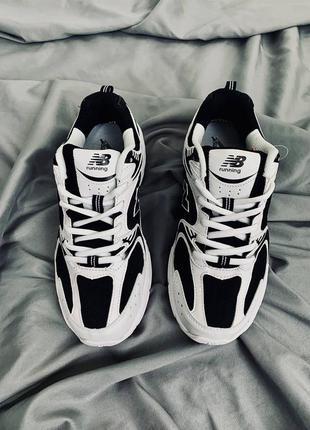 Кроссовки new balance wr 530 white/black. живые фото🔥