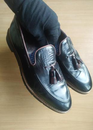 Брендовые туфли лоферы, мокасины, топсайдеры house of hounds с кисточками. премиум качество.