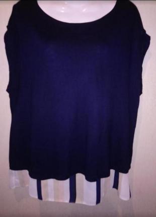 🌺 🌿 🍃 блуза нарядная по спинке змеечка р52-54 🌼🍃🌿