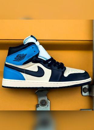 Кроссовки женские nike air jordan синие черные / кросівки жіночі найк аир джордан сині чорні кроссы