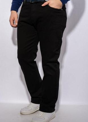 Теплые мужские джинсы на флисе, черные. турция.