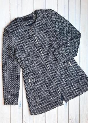 💥1+1=3 модное синее удлиненное пальто zara, размер 46 - 48