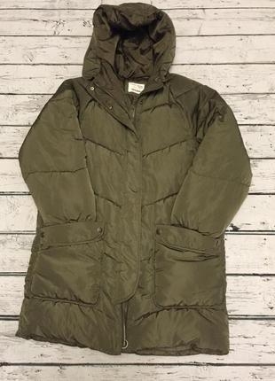 Zara зимняя куртка пальто пуховик тёплая