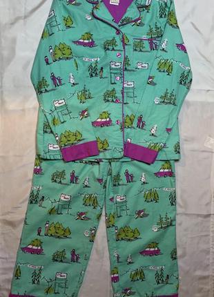 Тёплая фланелевая пижама munki munki