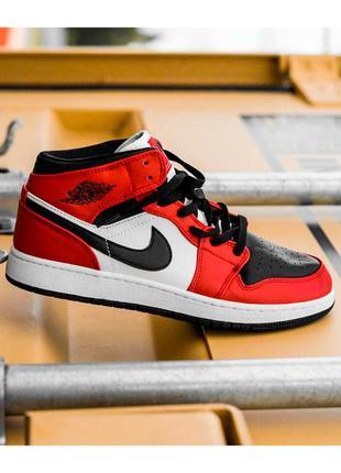 Кроссовки женские nike air jordan красные черные / кросівки жіночі найк аир джордан червоні кроссы