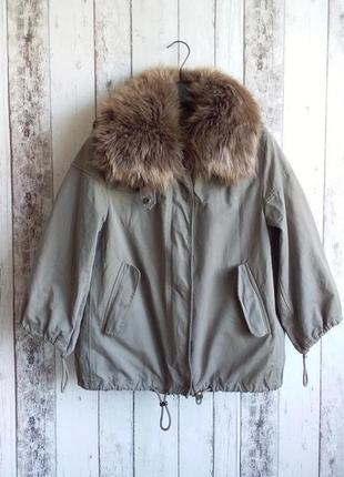 Куртка оверсайз демосезонная zara