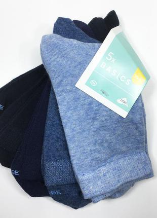 Набор 5 пар носки хлопковые комплект носков р.35-38 бренд c&a