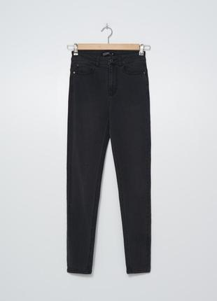 Джинсы штаны джинсовые женские черные серые скини размер 38 house чорні сірі джинси штани джинсові