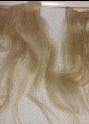 Натуральные волосы на тресах для наращивания.