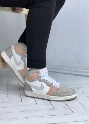 Женские кроссовки nike jordan 1 mid milan / жіночі кросівки найк джордан