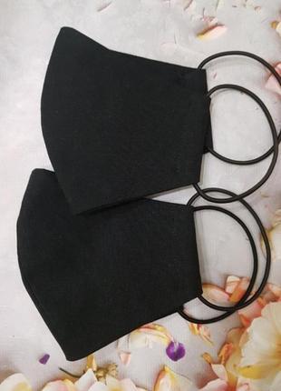 Многоразовая черная маска, 4 размера