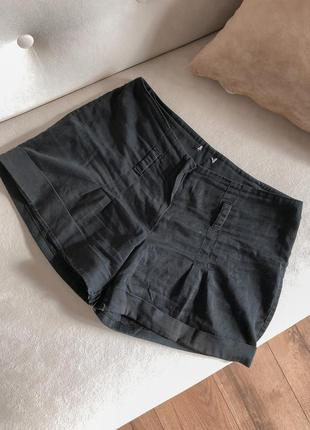Чорні шорти-спідничка