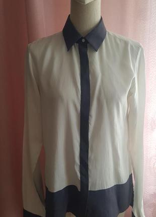 Блуза рубашка из шелка artigiano