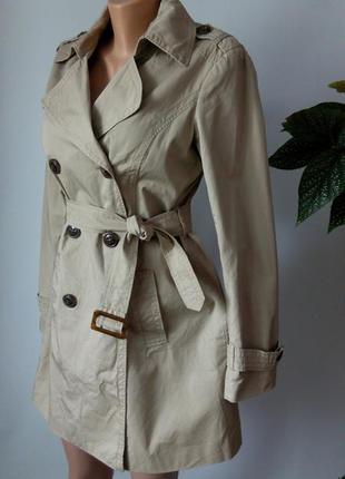 Осенний плащ 48 размер пальто тренч esprit