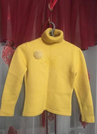 Теплый свитер размер 46