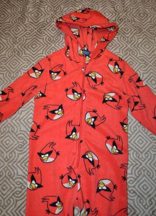 Флисовая пижама next angry birds человечек на 5 лет роcт 110 см