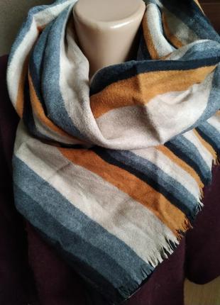 Navyboot теплый роскошный шарф шелк.