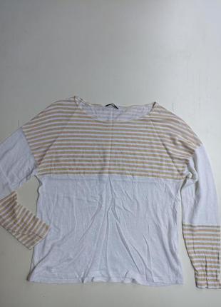 Фирменная льняная блуза