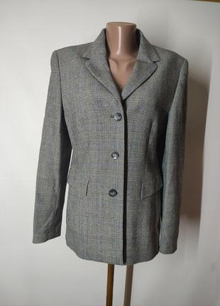 Базовый шерстяной клетчатый пиджак от gerry weber